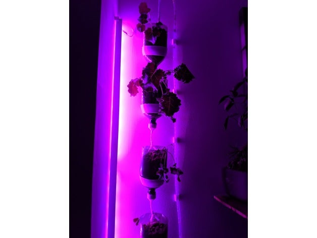Building a Wall-Mounted, Up-cycled Hydroponics System